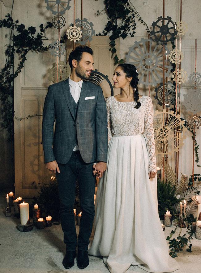 Halloween Themed Wedding Dresses 62 Simple Moody Industrial Wedding Inspiration