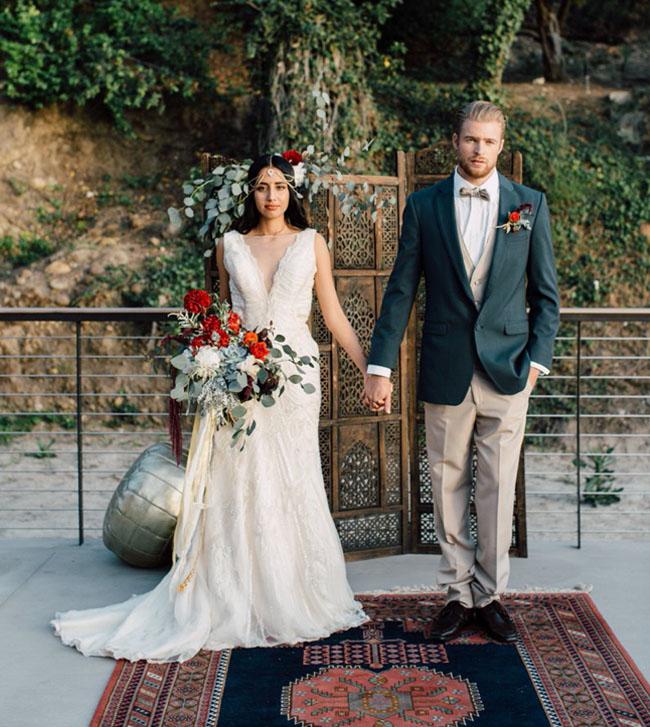 Exotic Wedding Dress 77 Epic Bohemian Indian Wedding Inspiration