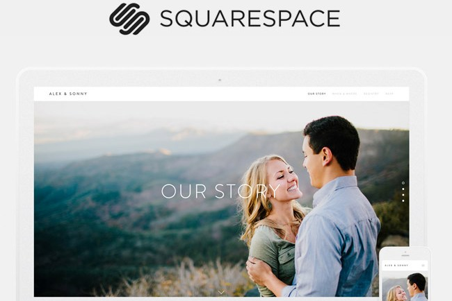 Create a beautiful wedding website with squarespace