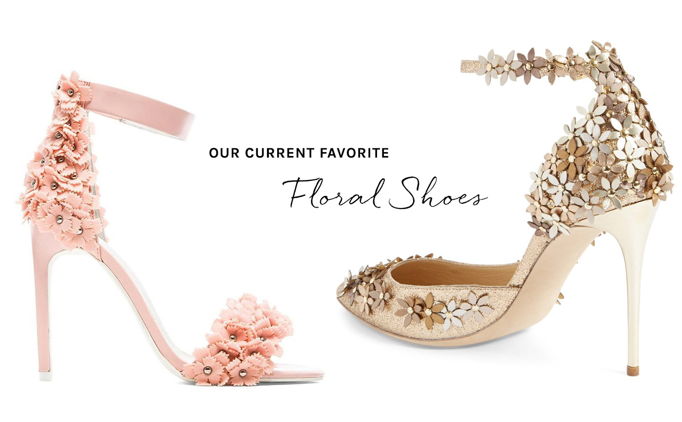 Gold Shoes For Wedding 59 Ideal Floral Shoes for Your