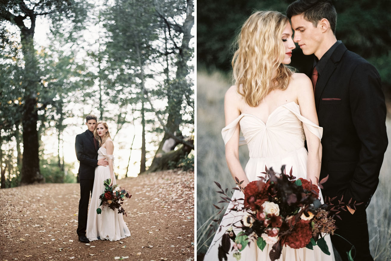 Moody Valentines Day Elopement Inspiration Green