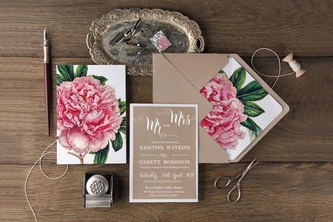 4lovepolkadots floral invites