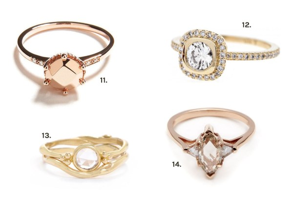 Our Favorite Unique Engagement Rings - Green Wedding Shoes