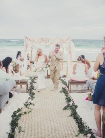 Romantic Destination Wedding In Tulum Mexico Taylea