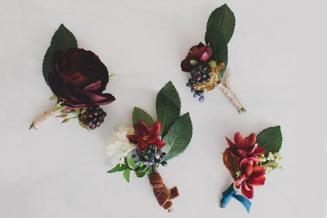 DIY Silk Flower Boutonnieres
