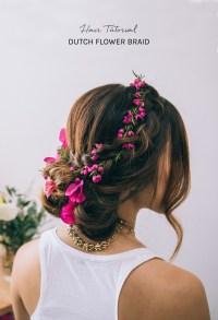 Hair Tutorial: Dutch Flower Braid - Green Wedding Shoes