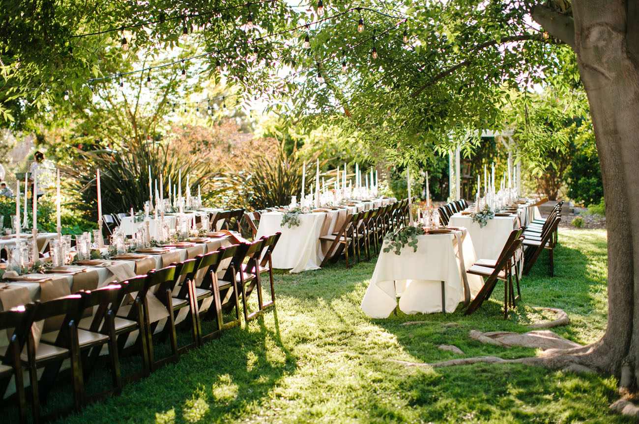 Romantic Relaxed Backyard Wedding Heidi  Joshua  Green