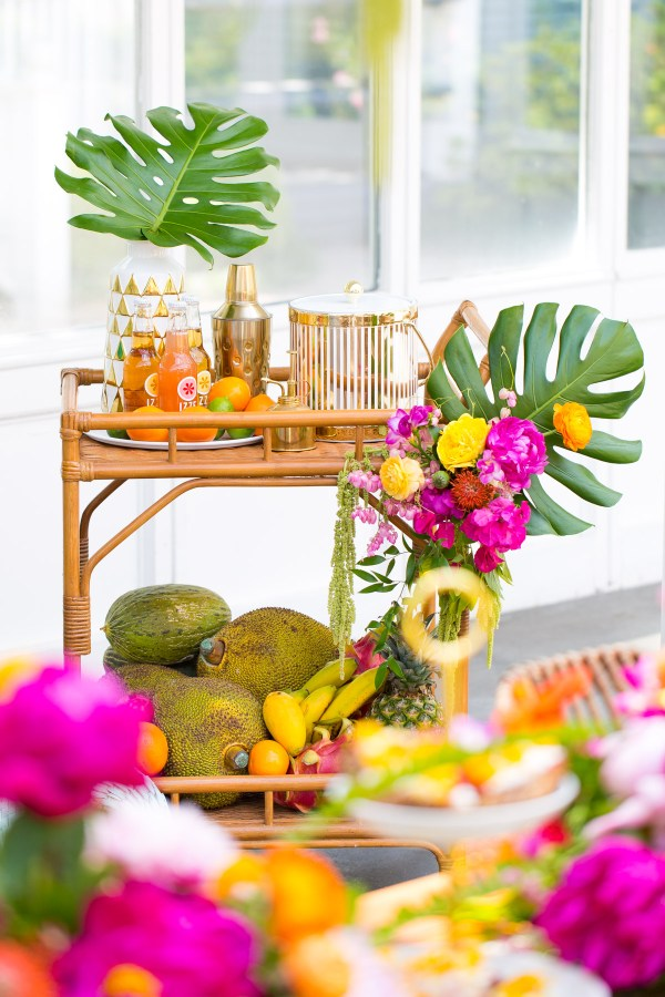 tropical greenhouse bridal shower