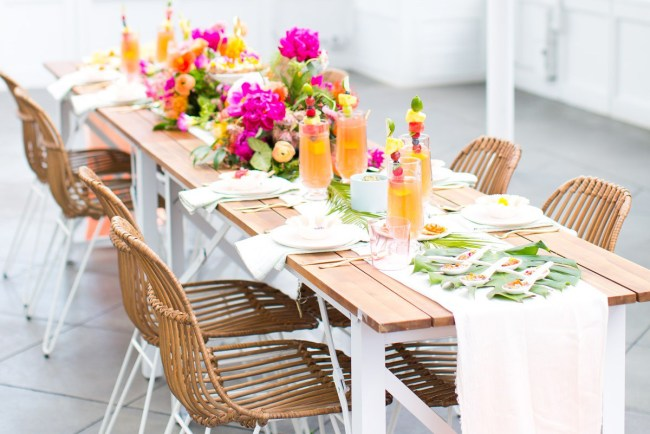 Tropical Bridal Shower: Tropical-Inspired Bridal Shower With A Donut Wall!