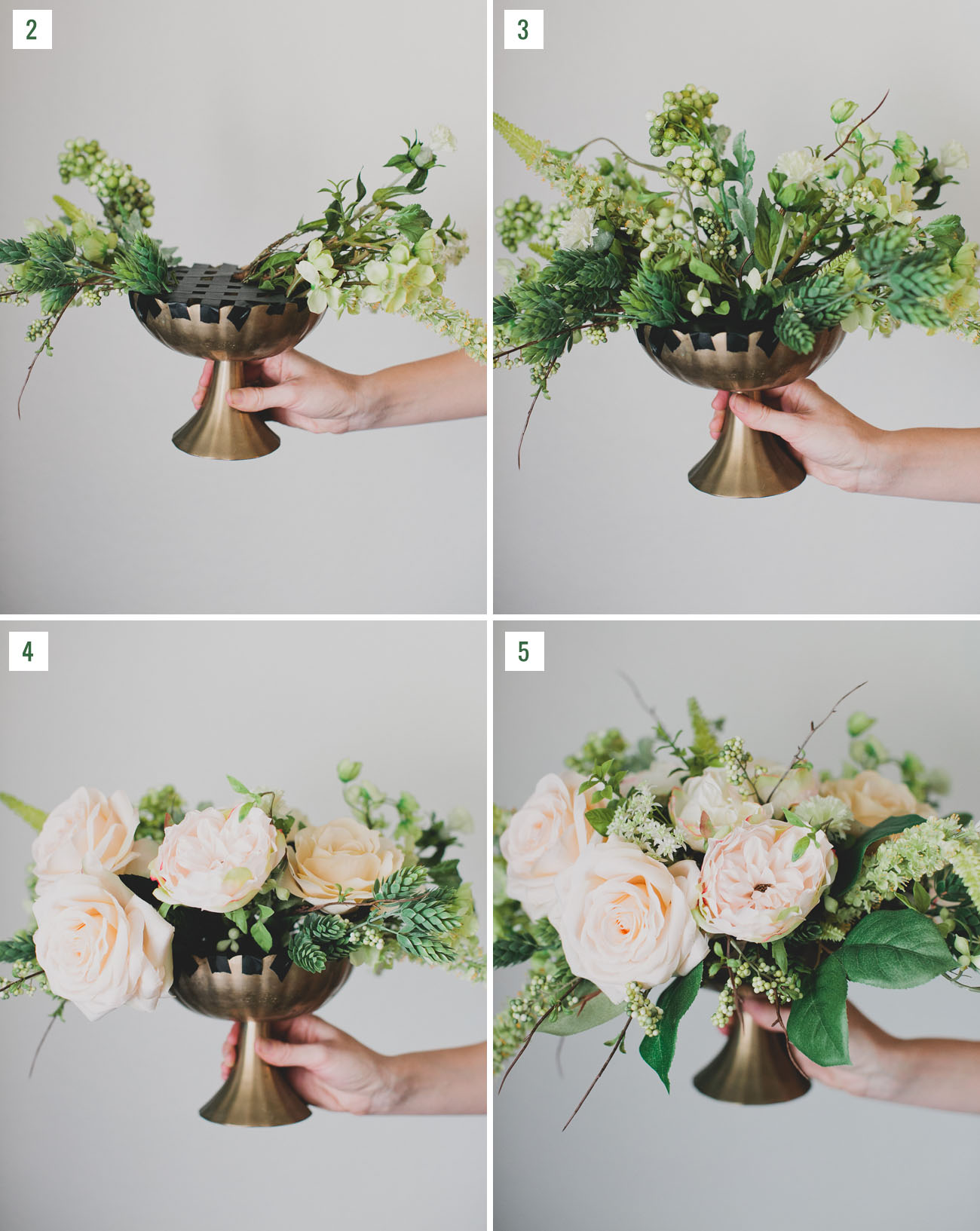Faux Flower Centerpieces