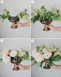 DIY: Silk Flower Centerpiece - Green Wedding Shoes
