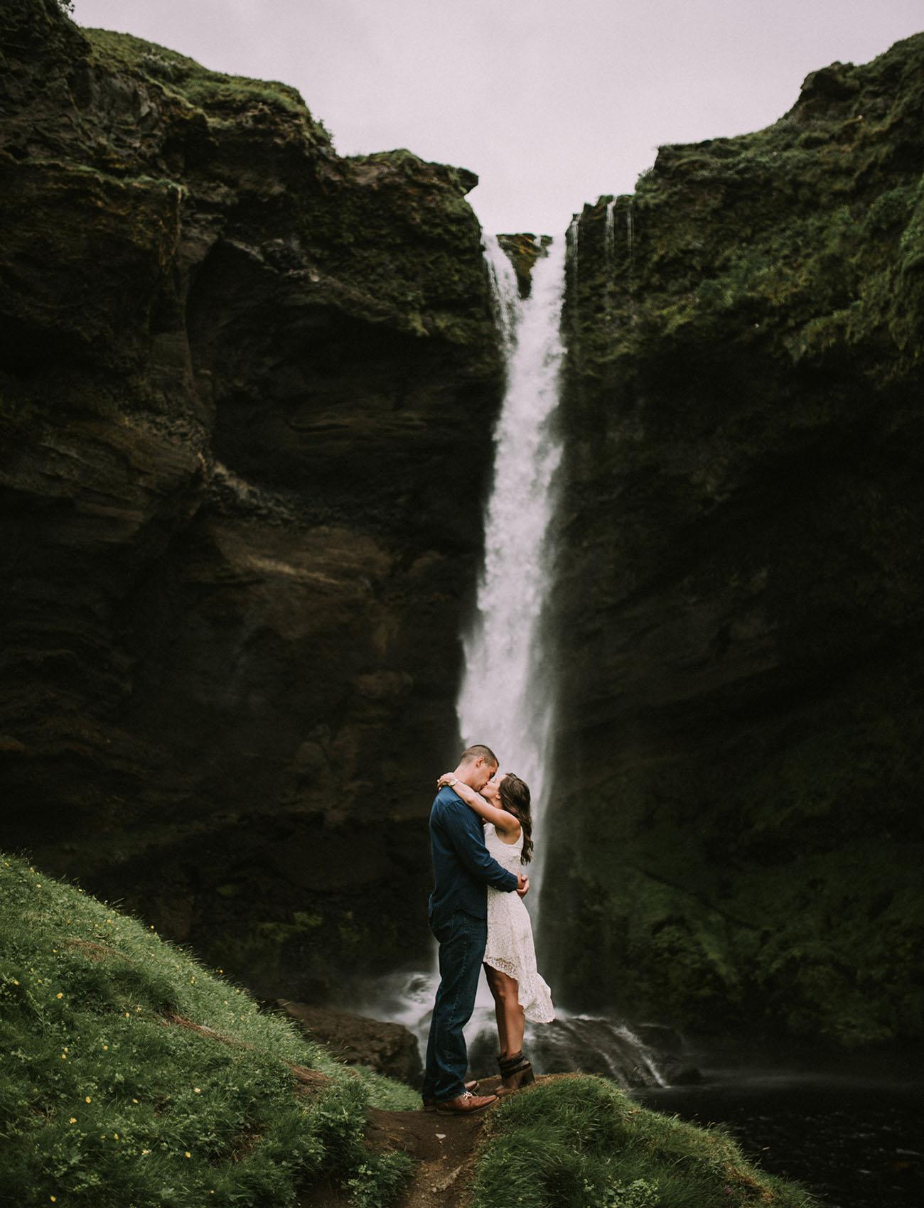 Surprise Icelandic Waterfall Proposal Jenny Shawn