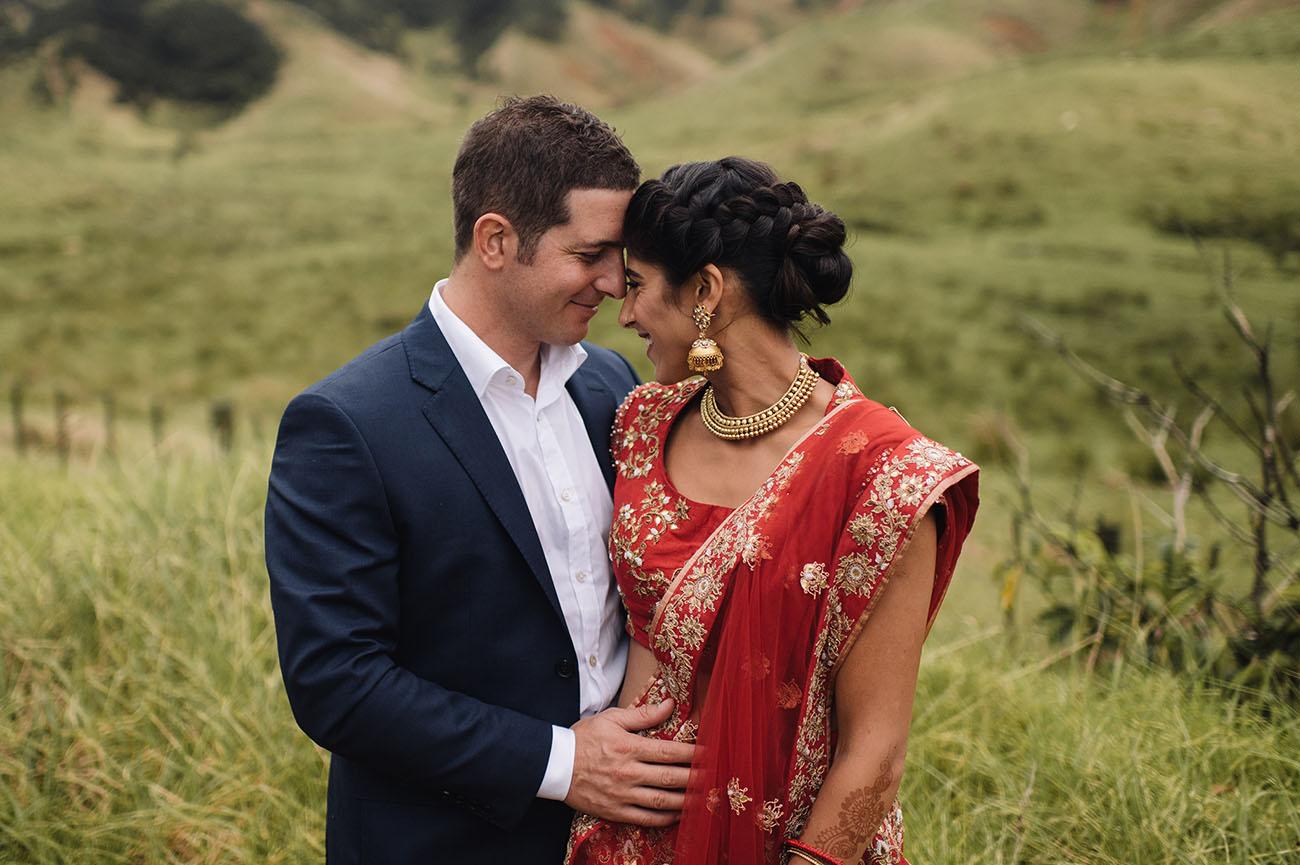 Indian Fusion New Zealand Wedding Aarti  George  Green
