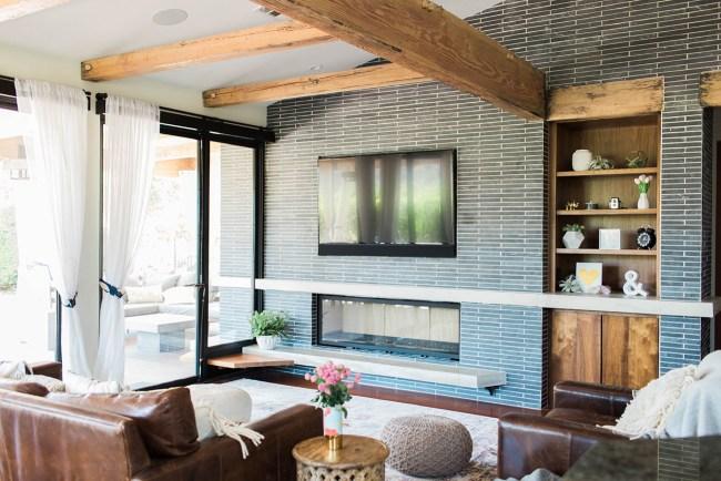 modern boho family room