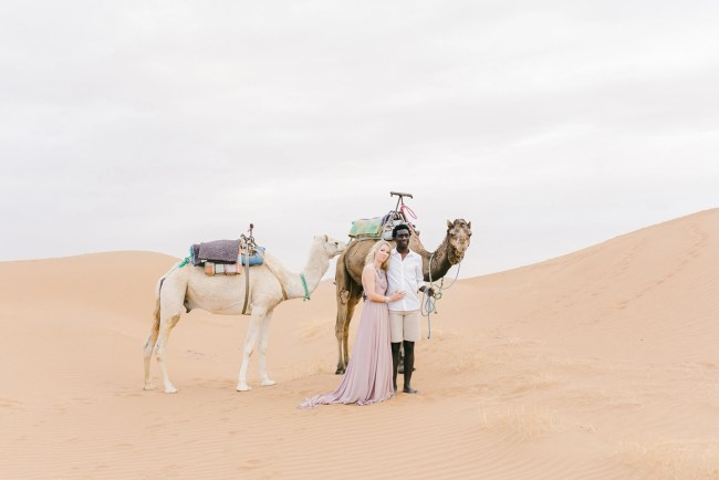 anniversary photos in morocco with camels