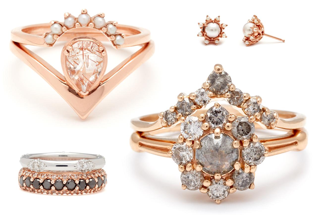 Diamond And Pink Sapphire Wedding Band 39 Superb Anna Sheffield us Latest