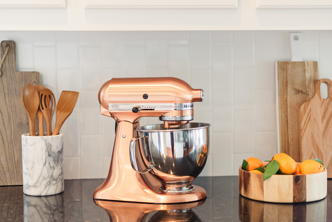 copper kitchen aid mixer small cabinet ideas our favorite registry picks from bed bath and beyond green