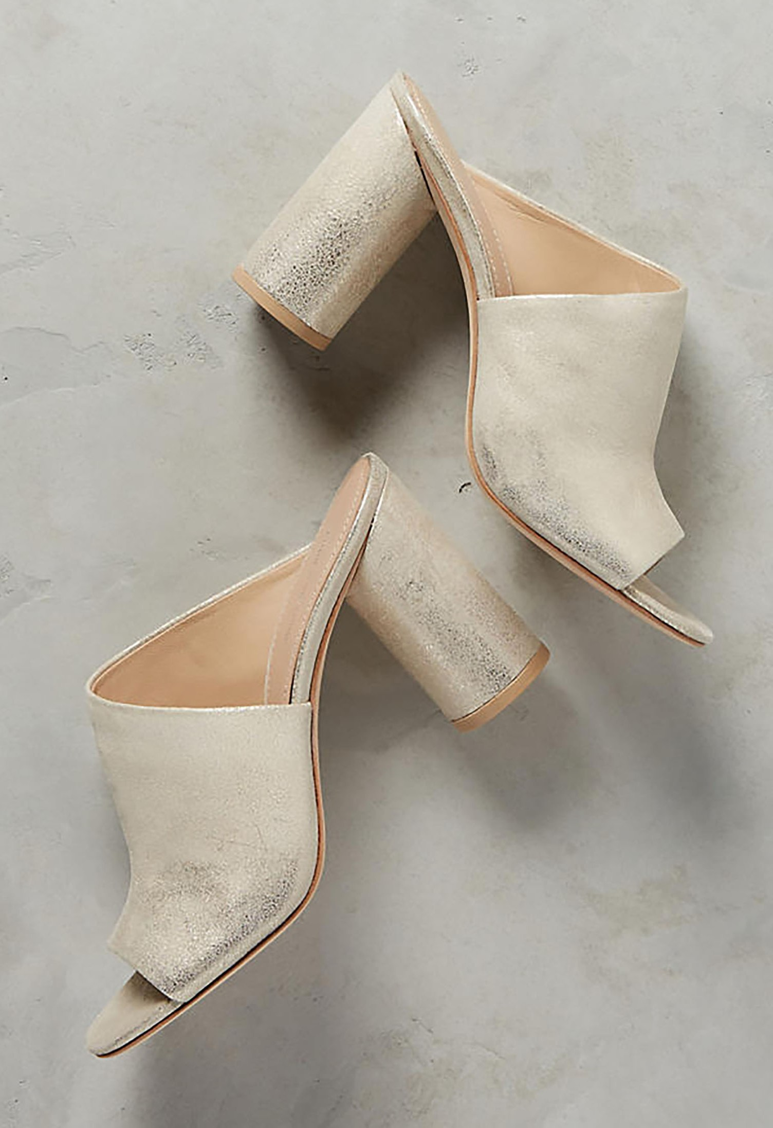 Helena Mules Green Wedding Shoes