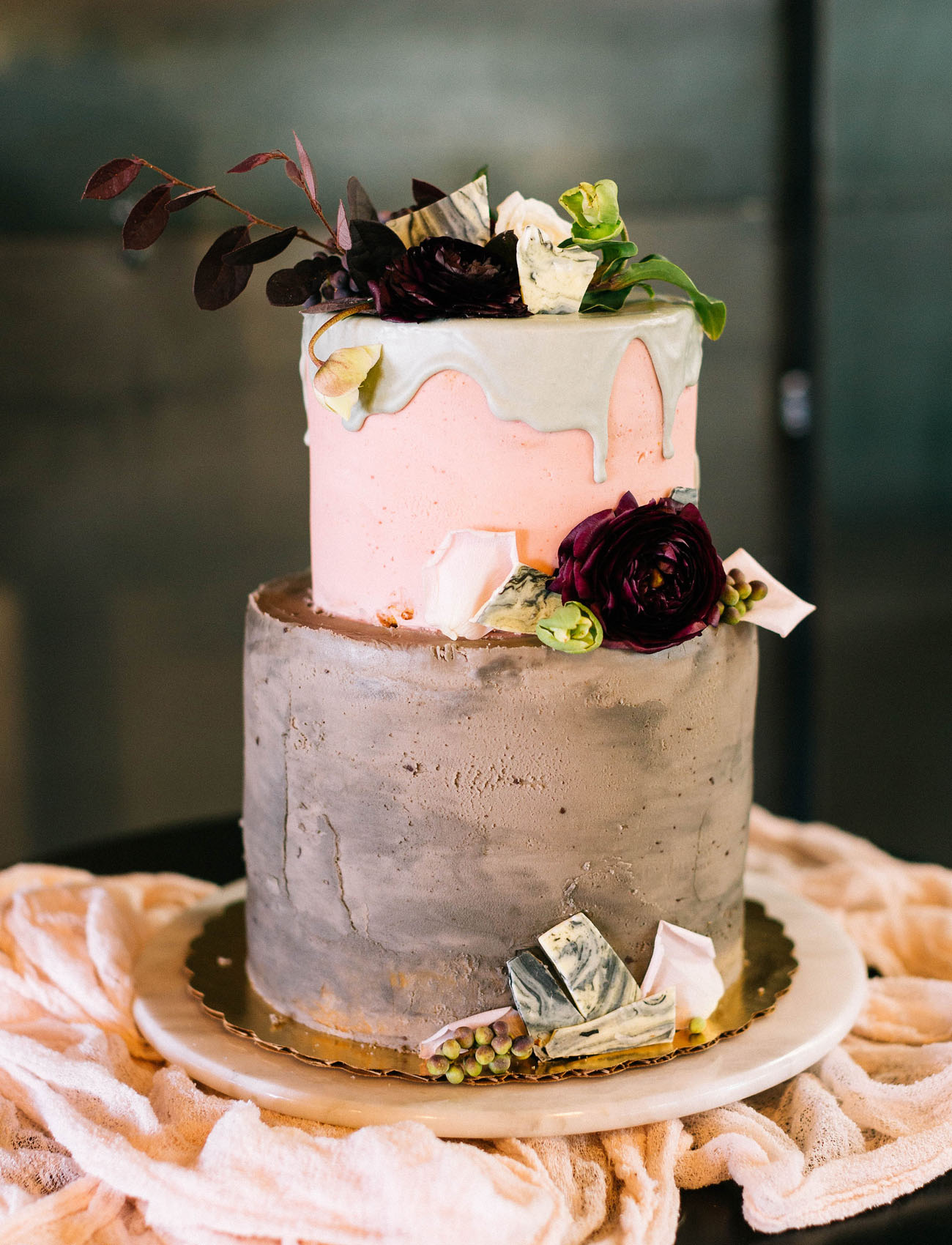Industrial Romantic Wedding Inspiration At A Brewery