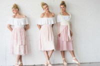 Pretty in Pink Blush Ballet-Inspired Bridesmaids Dresses ...