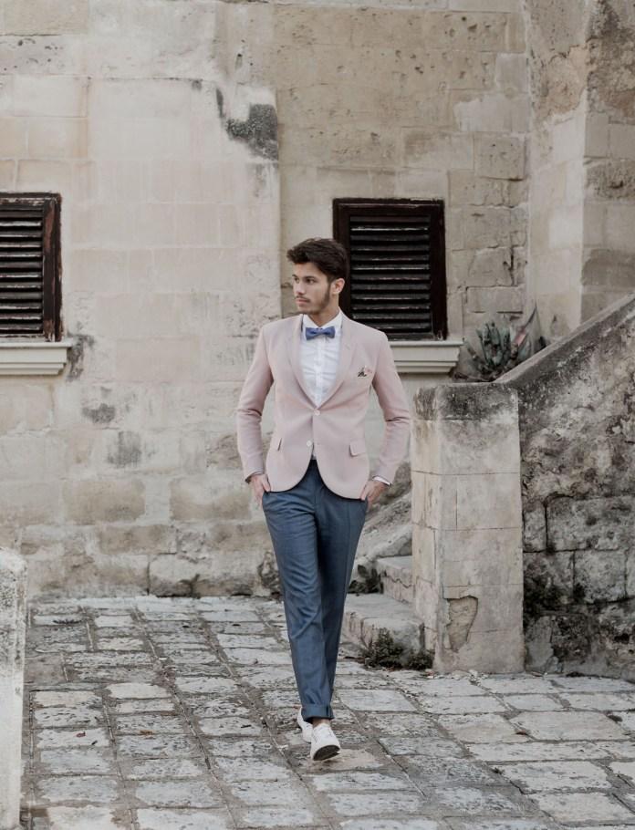 pink jacket groom