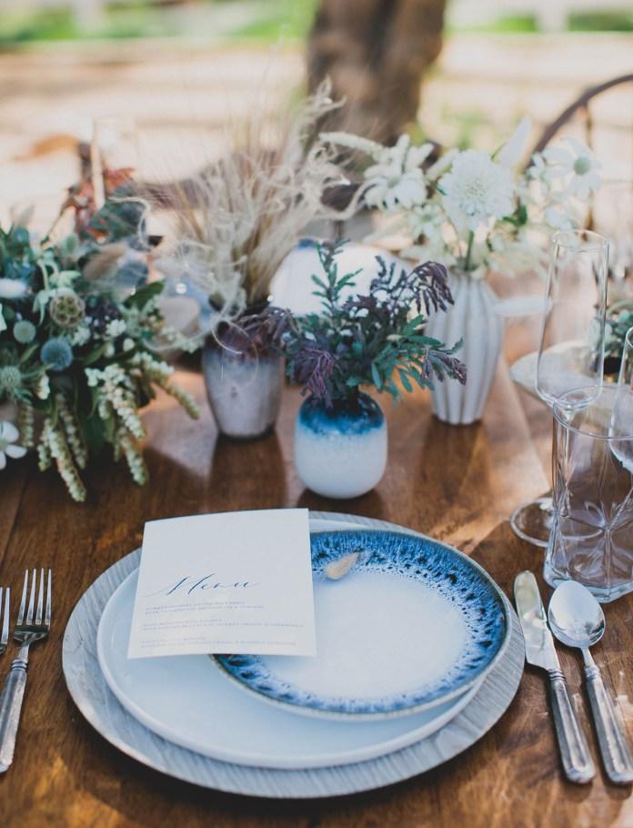 blue indigo plates