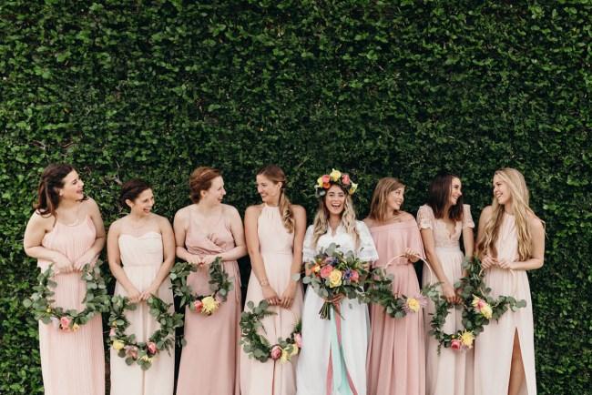 Floral Hoop Bridesmaids