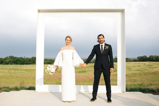 Modern Texas Hill Country Wedding