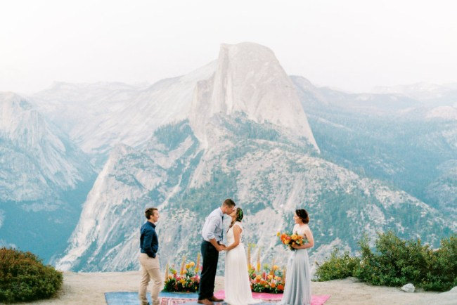 Bright and Boho Yosemite Elopement