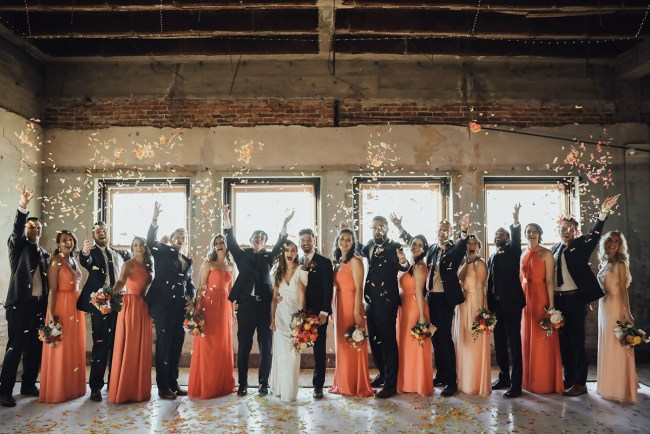 Modern Colorful Oklahoma Wedding