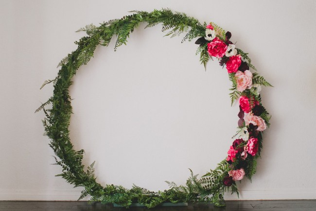 DIY Giant Silk Flower Wreath