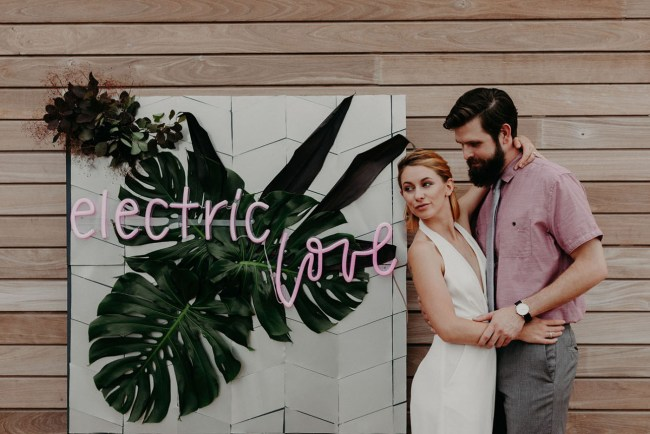 Modern Electric Wedding Inspiration