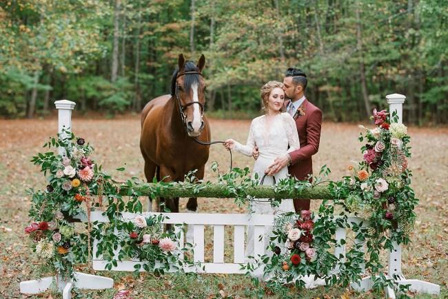Equestrian Fall Wedding Inspiration