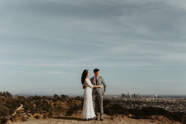 Urban Boho Glam Los Angeles Elopement
