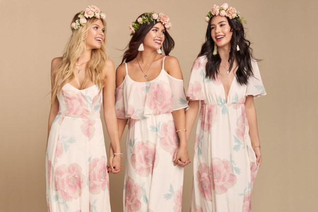 GWSxMumu Bridesmaids Dresses Wedding Bells Floral