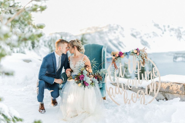 Romantic Elopement at Crater Lake National Park