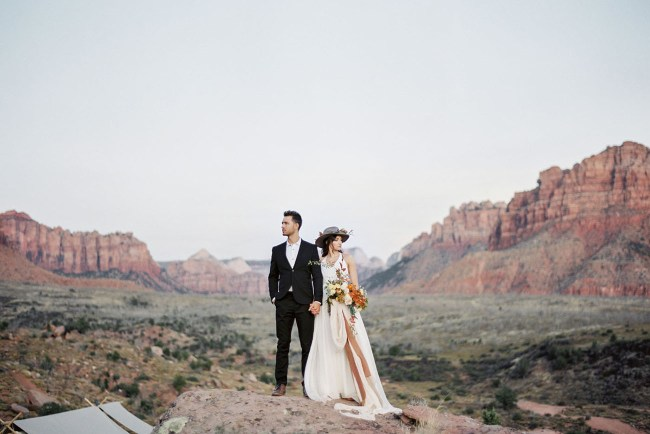 Zion Glamping Elopement Inspiration