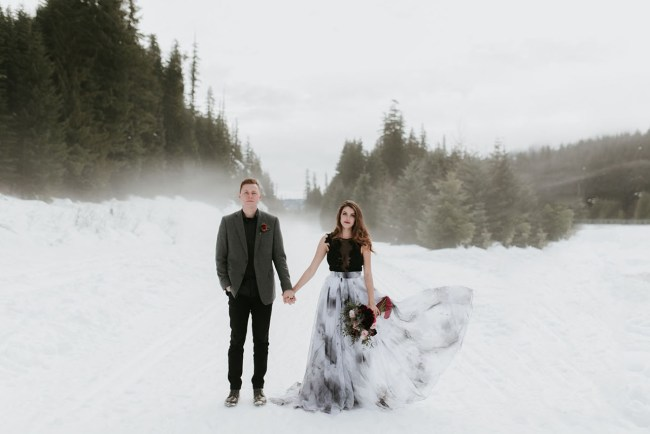 Dark and Moody Winter Wedding Inspiration