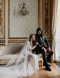 Edgy Meets Glam: Marie Antoinette-Inspired Wedding in ...