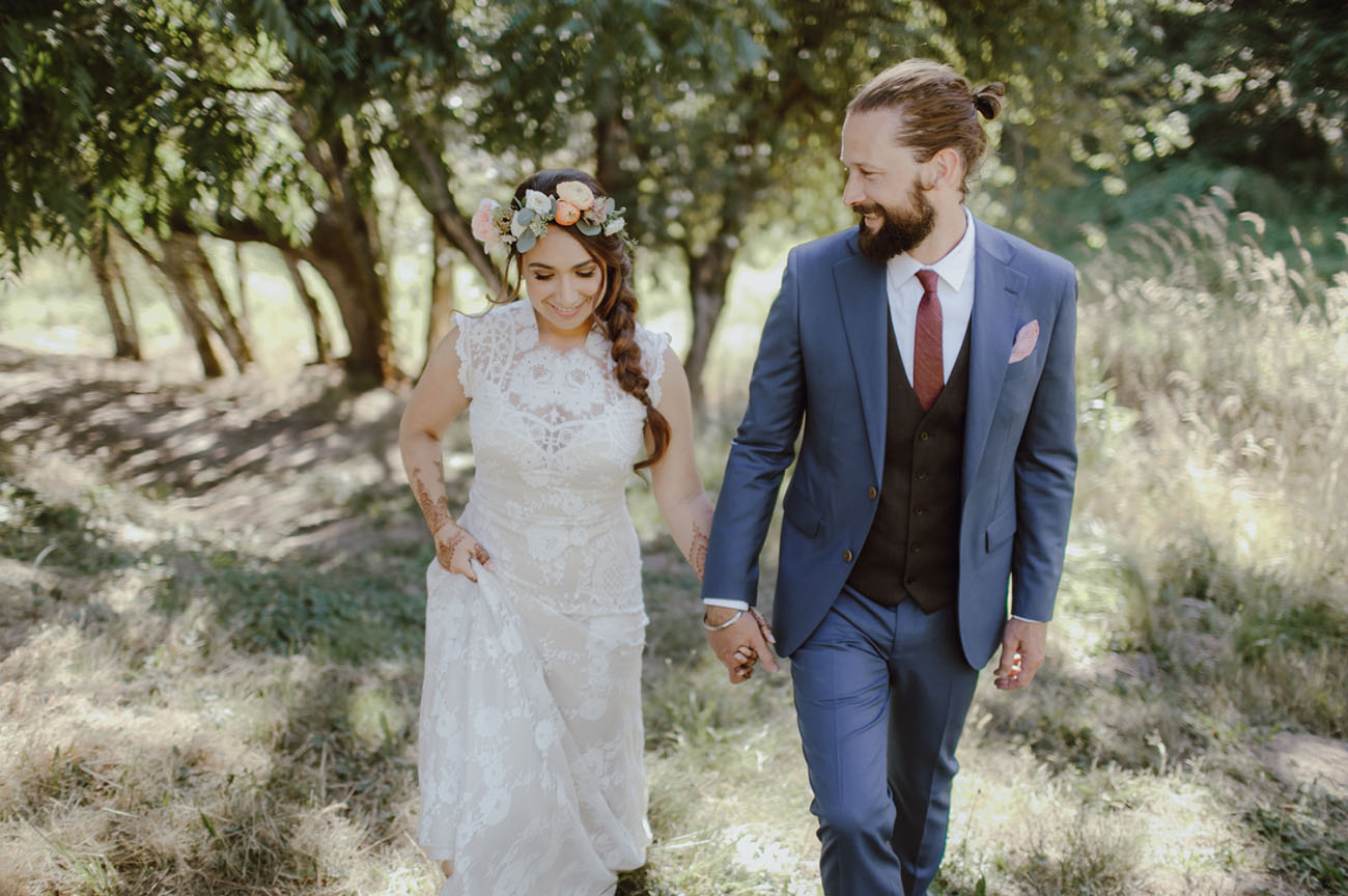 Bright and Boho Oregon Wedding