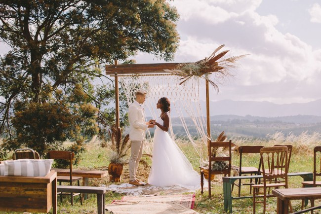 African Sunset Wedding Inspiration