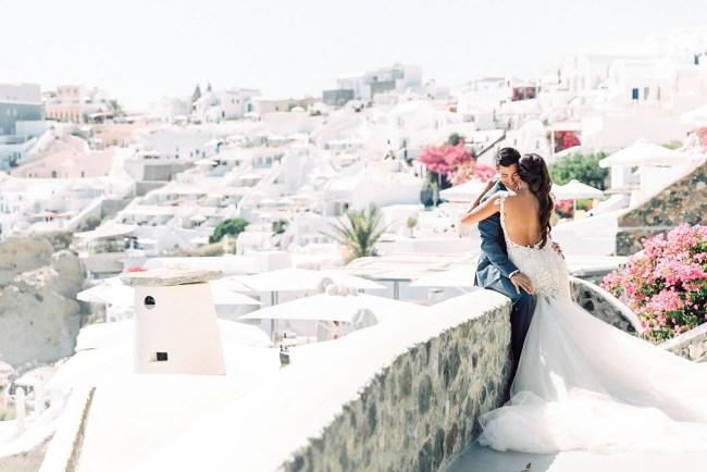 Glam Santorini Wedding