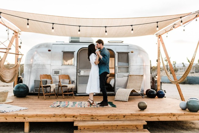Joshua Tree Airstream Engagement