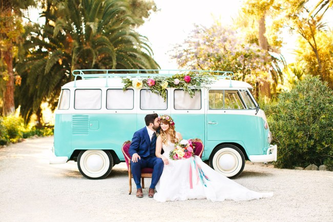 Colorful California Inspired Wedding