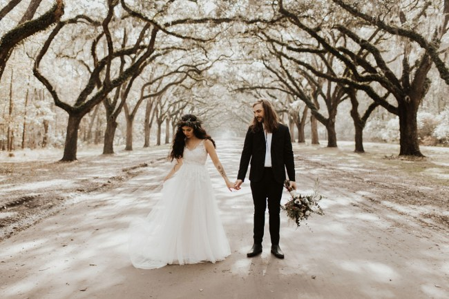 Savannah Georgia Boho Wedding