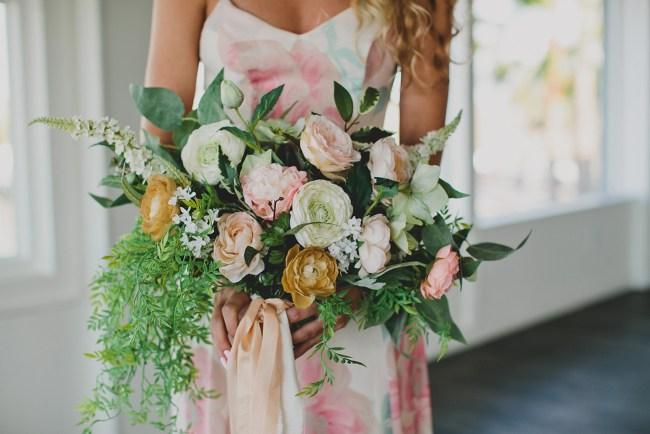 DIY Silk Flower bouquet