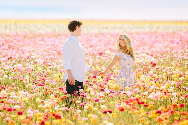 Flower Fields Engagement