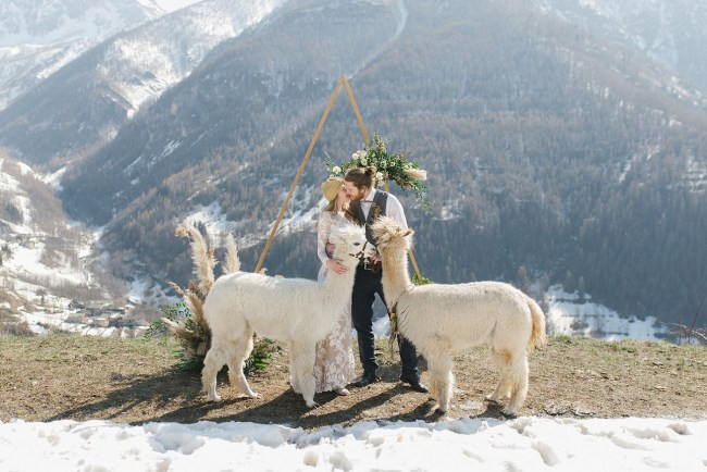 Italian Alps Elopement Inspiration