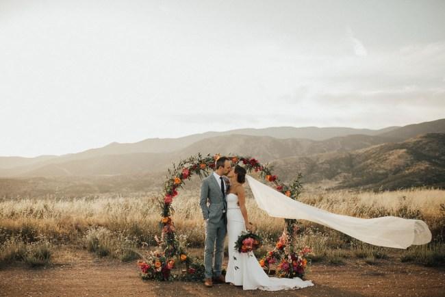 Backyard California Wedding