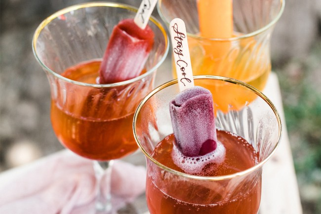 DIY Prosecco Popsicles